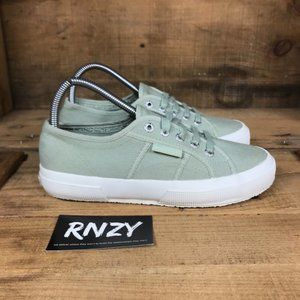 Superga Green Classic Canvas Lace Up Sneakers